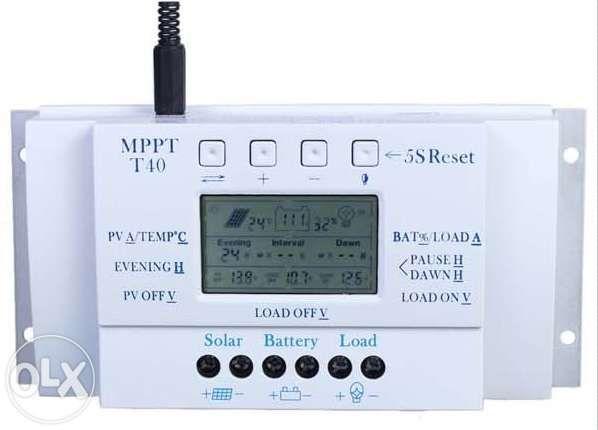 Controller/regulator controler solar T40A LCD panouri fotovoltaice