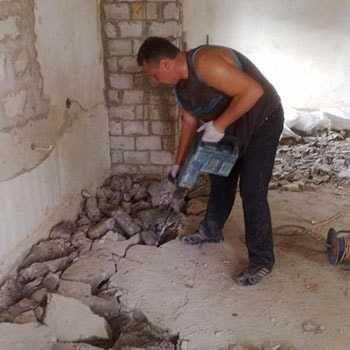 демонтаж Разрушение бетонной полов дорожка отмоска  коттеджи  дом