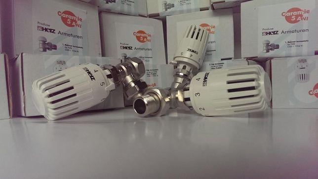 "Robinet termostatic Herz DN 15(1/2"") si cap termostatic Herz-Project"