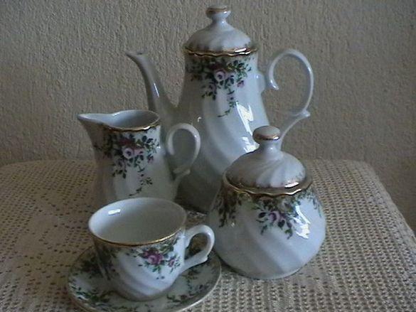 Луксозен сервиз за кафе /произведен в България/