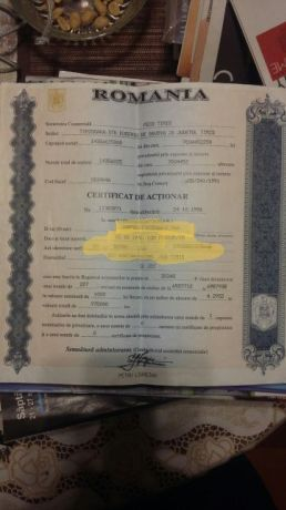 Vând Actiuni PECO Timis (OMV Petrom)