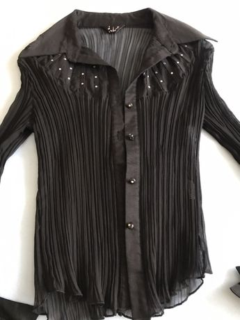 Чисто нова официална дамска риза с камъни Сваровски