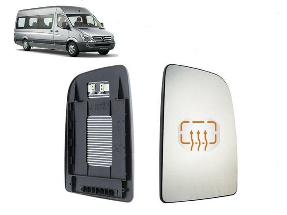 Стъкло за огледало с подгряване за Mercedes Sprinter, VW Crafter 2006-