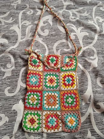 Ръчно изплетена плетена дамска чанта