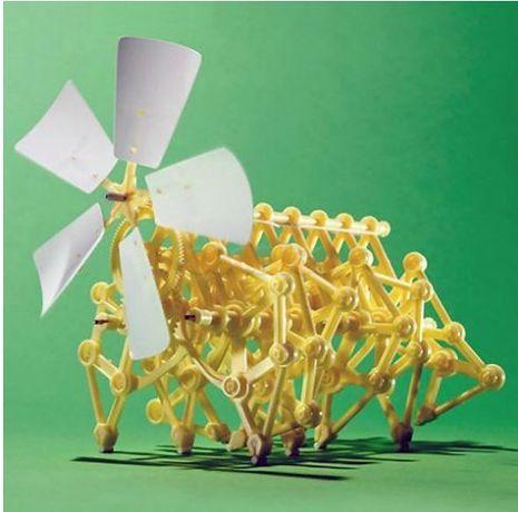 Motor eolian Robot actionat de vant, puzzle, jucarie copii