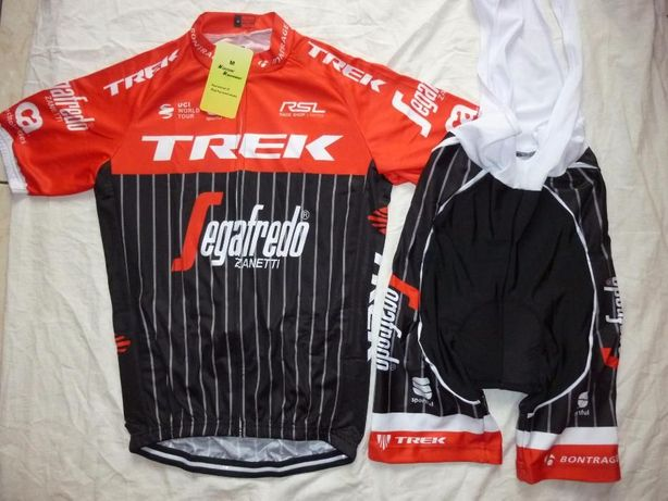 Echipament ciclism Trek Segafredo 2017 set pantaloni tricou costum NOU