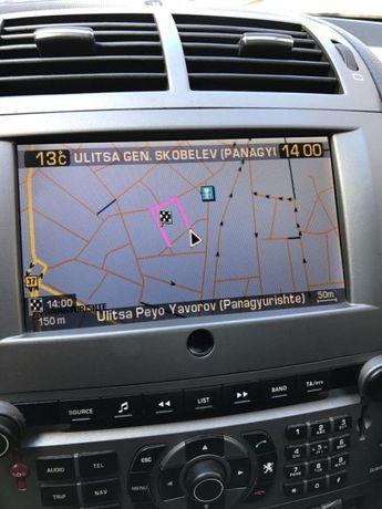 Навигационен диск за Пежо 407 Ситроен Rt3 и ъпдейт до 6.63 на софтуера