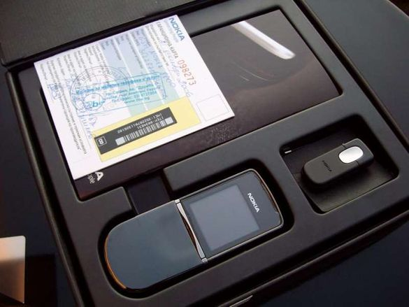 Nokia 8800 Sirocco Black Limitted Edition Made in Germany and Silver