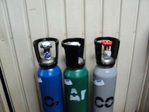Бутилка,Бутилки Нови заредени с газови смеси-Въглерод,Аргон,Кислород