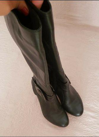 Cizme din piele, m 37(23.5 cm), stare excelenta