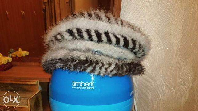 Продам норковую вязанную шапку