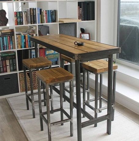 Мебели за кафене в индустриален стил/ мебели за заведение