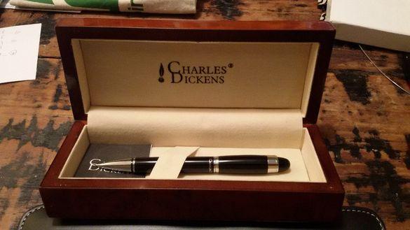 химикалка Чарлз Дикенс Charles Dickens в луксозна дървена кутия