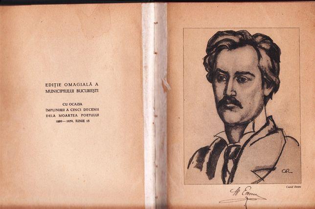 Eminescu -Poezii 1939 ,Editie la 50 de ani de la trecerea in nefiinta