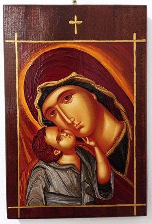 Икона на Св. Богородица - рисувана