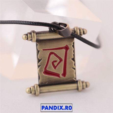 Pandantiv / Colier / Lantisor - DOTA 2 - Town Portal Scroll - Metalic