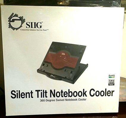 Охладител за лаптоп Siig Silent Swivel Notebook Cooler