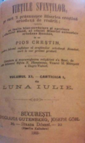 ,,Viata Sfintilor '' -1905- IULIE