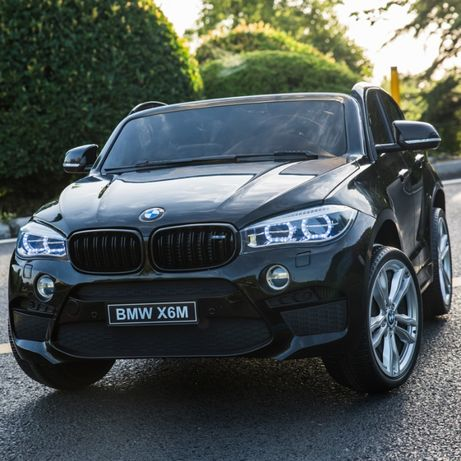 Masinuta electrica pentru 2 copii BMW X6M culoare metalizata #Negru