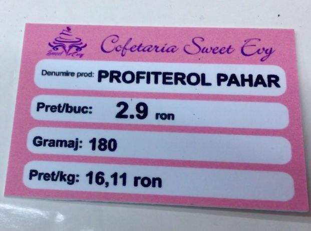 Etichete prețuri