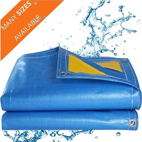 Prelata impermeabila cu inele 90 gr/mp dimensiune 5 x 6 m, albastra