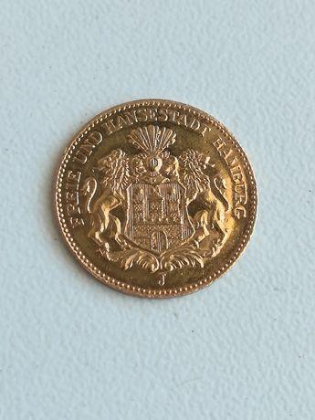 Рядка !!! Deutsches Reich 1877 5 Mark Freie und Hansestadt Hamburg