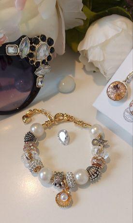 Нови модели!!! Гривни Pandora/Пандора в розово и жълто злато