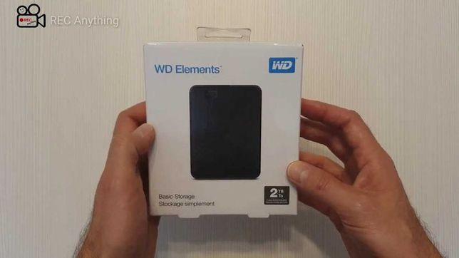 HDD hard disk extern WD Elements 2TB nou nefolosit SIGILAT
