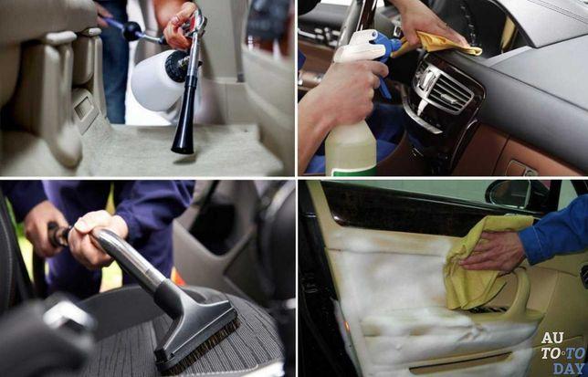 Химчистка авто, чистка фар, полировка