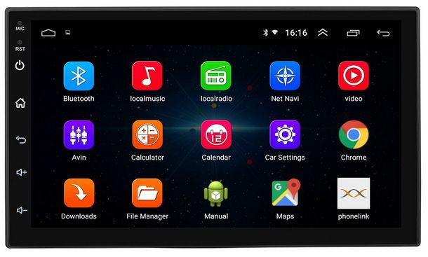 Navigatie Auto Android 8 Casetofon Radio Dvd Mp3 GPS WiFi 7inch 2 Din
