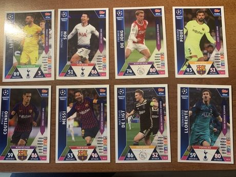 Set 8 carduri on demand Match Attax Ch League 2018-2019