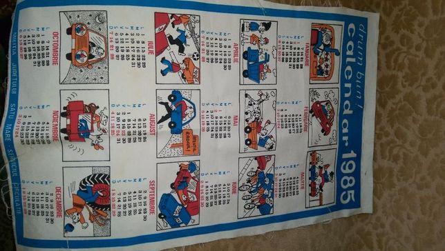 se vinde calendar drum bun vechi romanesc anul 1985