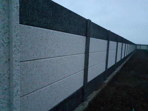 placi gard beton prefabricat