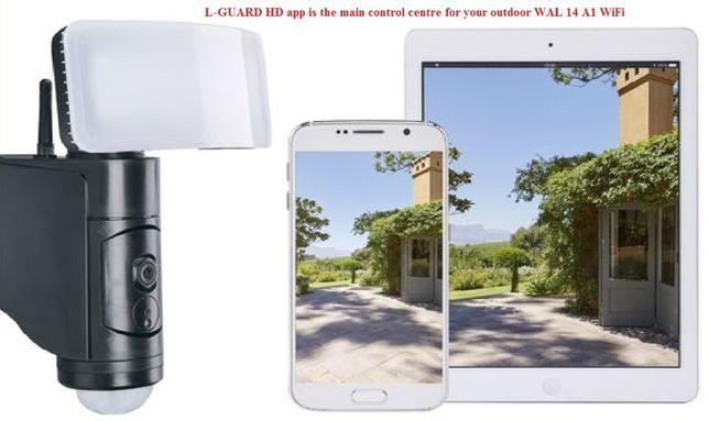 Camera Supraveghere Wifi- WAL 14 A1-Lampa LED
