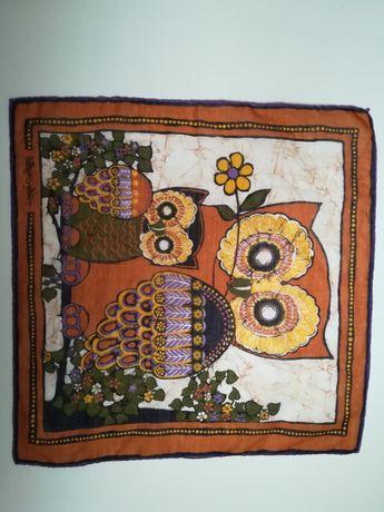 Eșarfă bufniță tablou textil