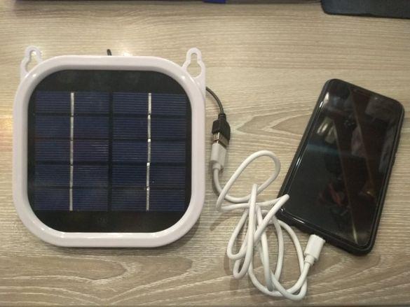 Слънчев панел за зареждане на телефон и други устройства с USB изход