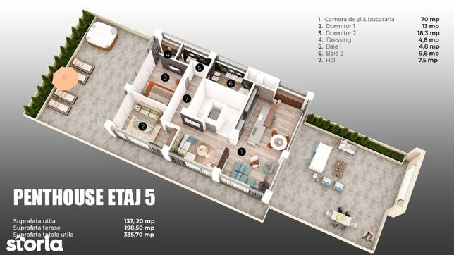 Penthouse de LUX ultra central!