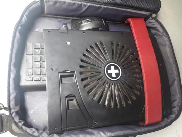 kit wirless, cooler, tastatura si geanta laptop
