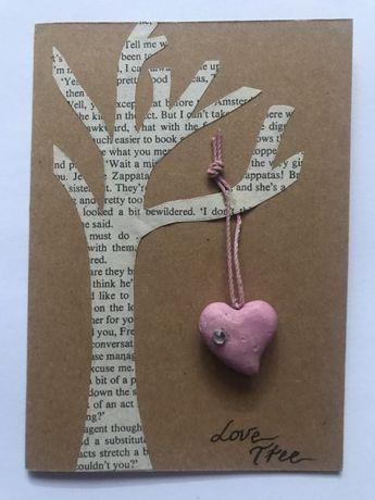 Ръчно изработени картички - сърца
