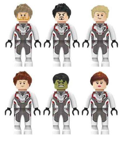 Set 6 minifigurine tip LEGO/Playmobil Marvel Avengers costume Quantum