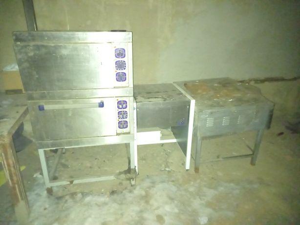 Электрический сковородка, 4*комфорный печь, духовка б/у
