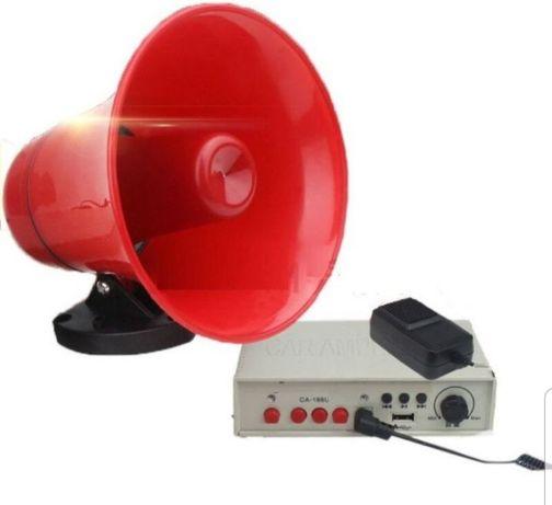 Portavoce megafon auto 25W USB microfon inregistrare suport magnetic