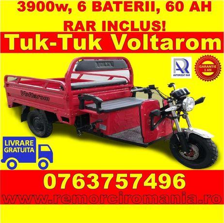 Triciclu electric 3900W, 60km autonomie, Rar Inclus, Livrare Gratuita