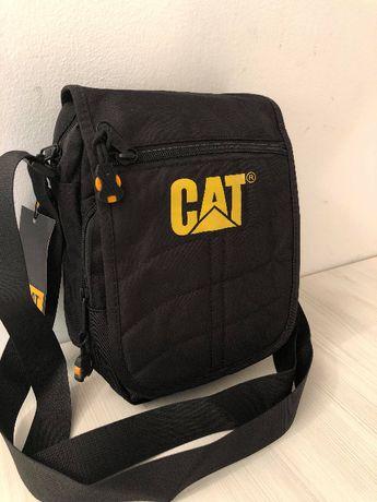 Стилна мъжка чанта CAT от плат 2