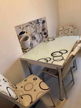 Masa de bucatarie cu 4 scaune