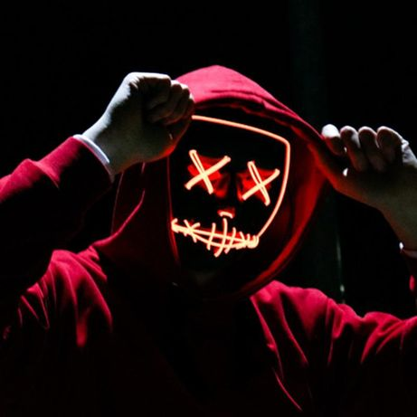 Masca lumina led UNTOLD The Purge Noaptea Judecatii Halloween +CADOU!