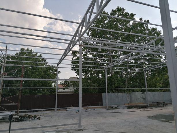 Structuri metalice hale terase ferme metalice