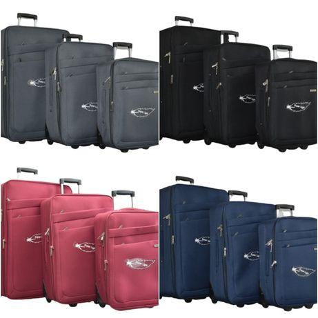 Олекотени текстилни куфари в 3 размера, в 4 цвята, КОД: 42