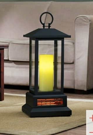 Фенер с инфрачервено кварцово отопление и реалистичен ефект на пламък!