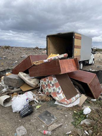 Вывоз мусора на свалку старые диваны